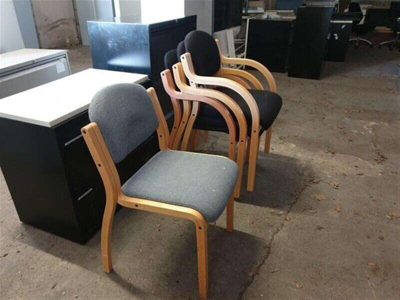 Wooden frame meeting chairs