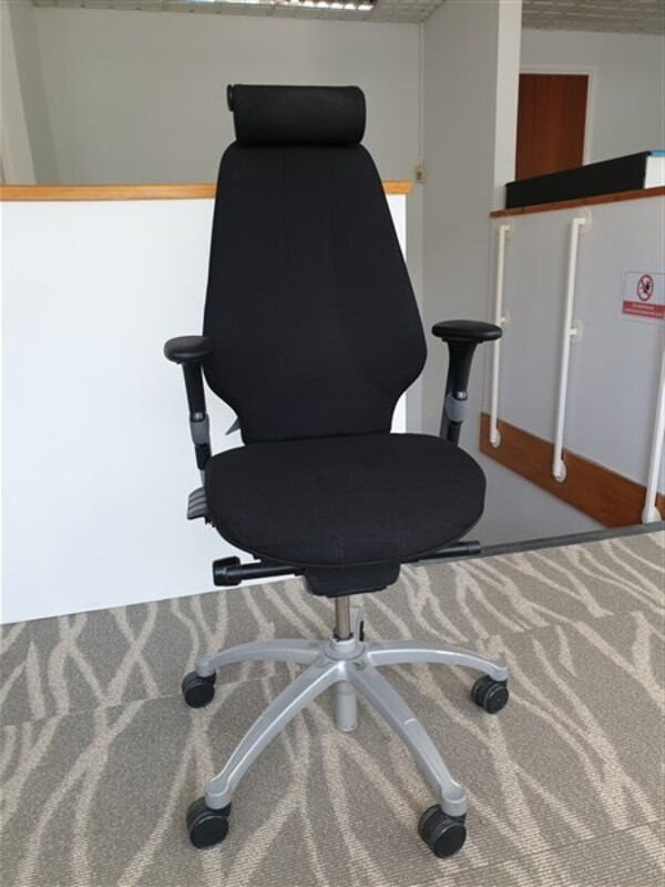 RH Logic 400 task chairs
