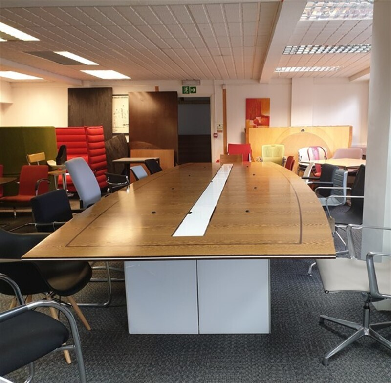 Large walnut boardroom table