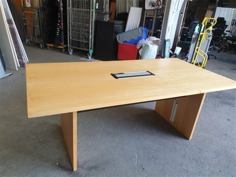 Beech boardroom table