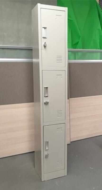 White padlock lockers