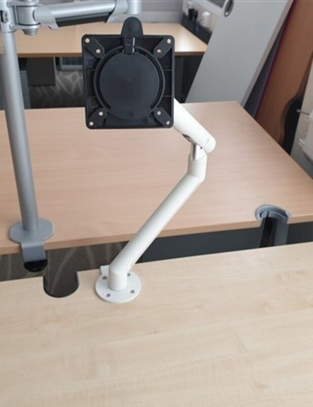 White Frame Single Monitor Arm