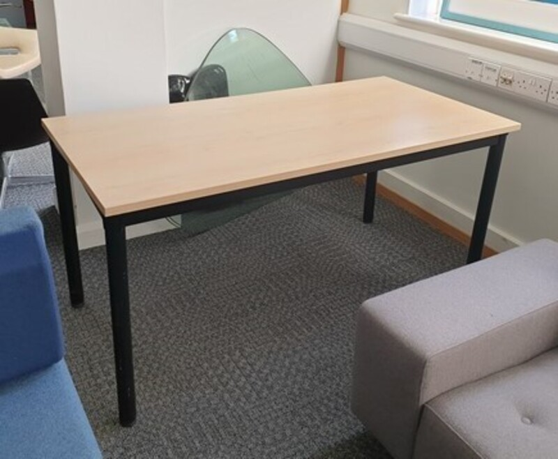 Harley table with black folding legs