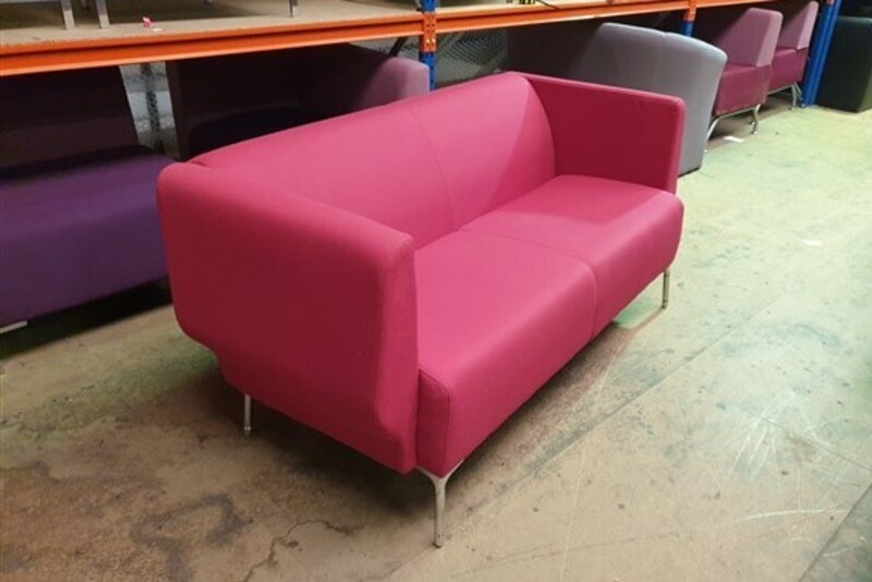 Orangebox pink 2 seat sofa