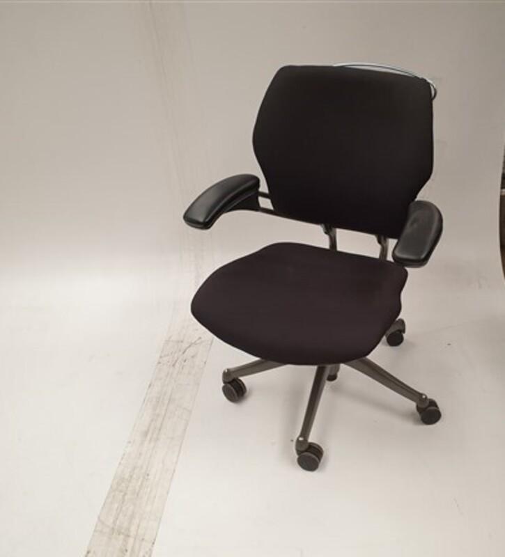 Humanscale black chair grey frame