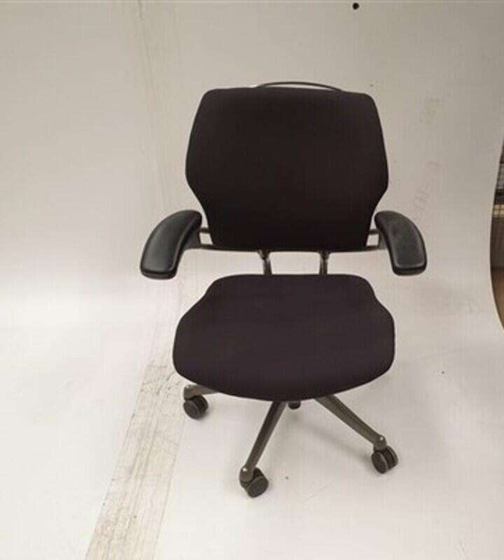 Humanscale black chair grey frame