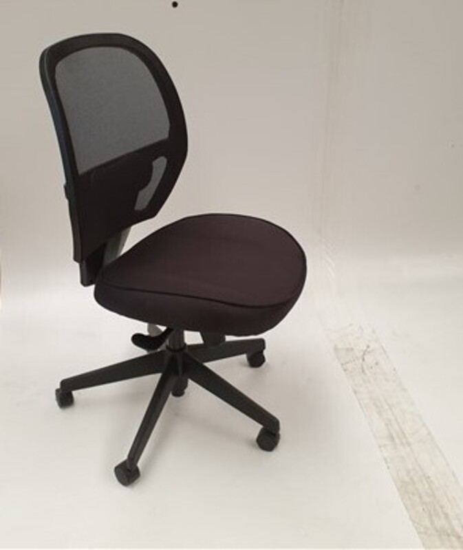 Black height adjustable chair