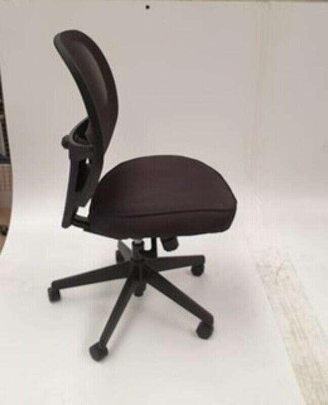 Black height adjustable chair