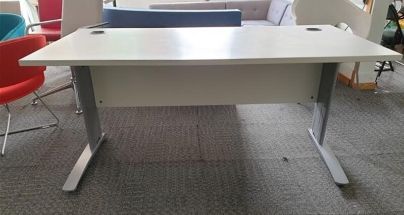 White desk freestanding