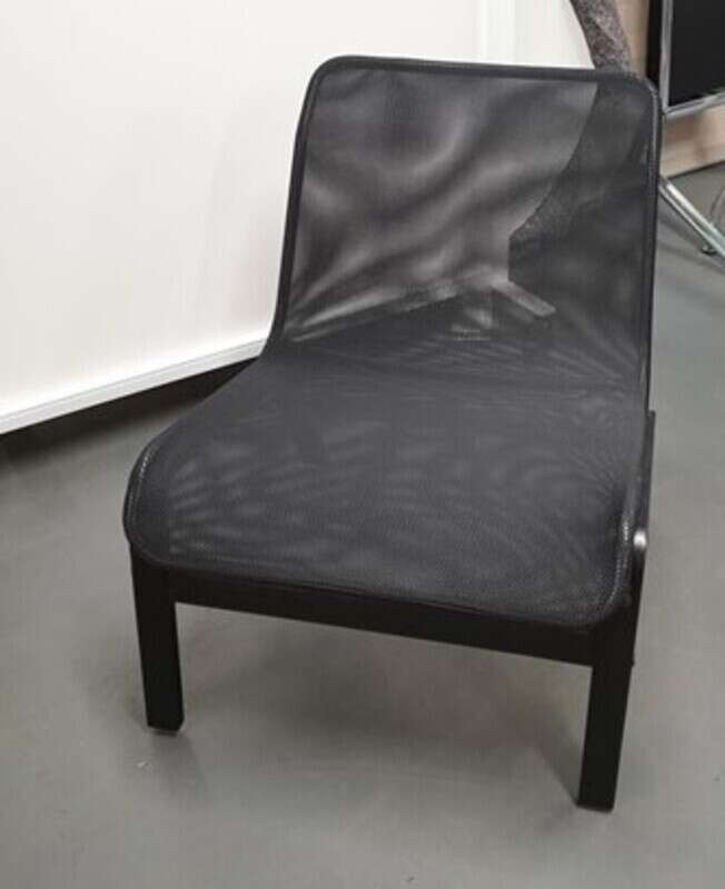 Low black mesh chairs