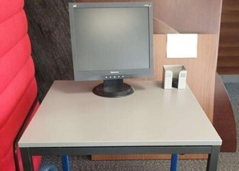 Grey square table
