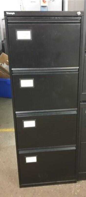 Triumph black 4 drawer filing cabinet