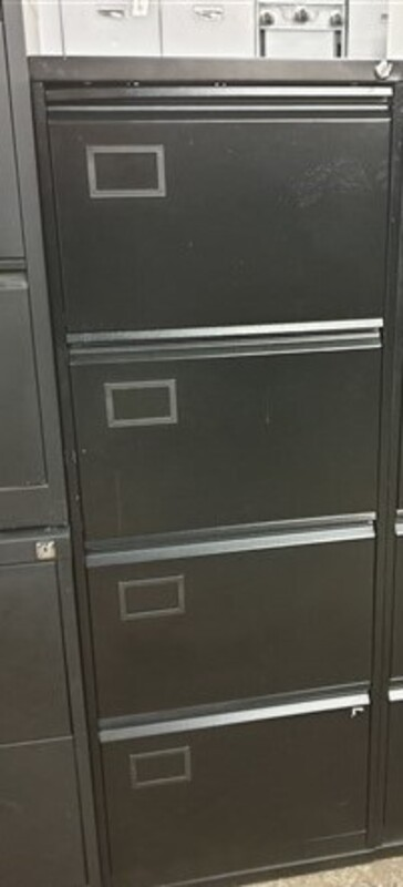 Black 4 drawer filing cabinet