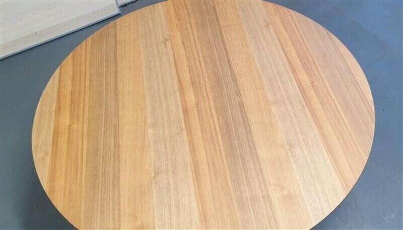 Oak circular coffee table