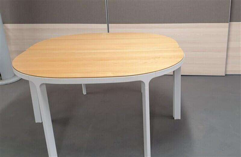 Oak / white conference table