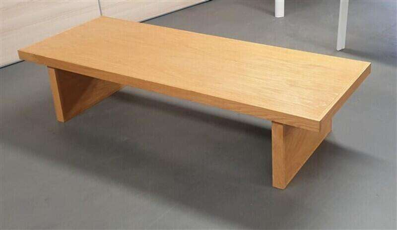 Wide oak coffee table