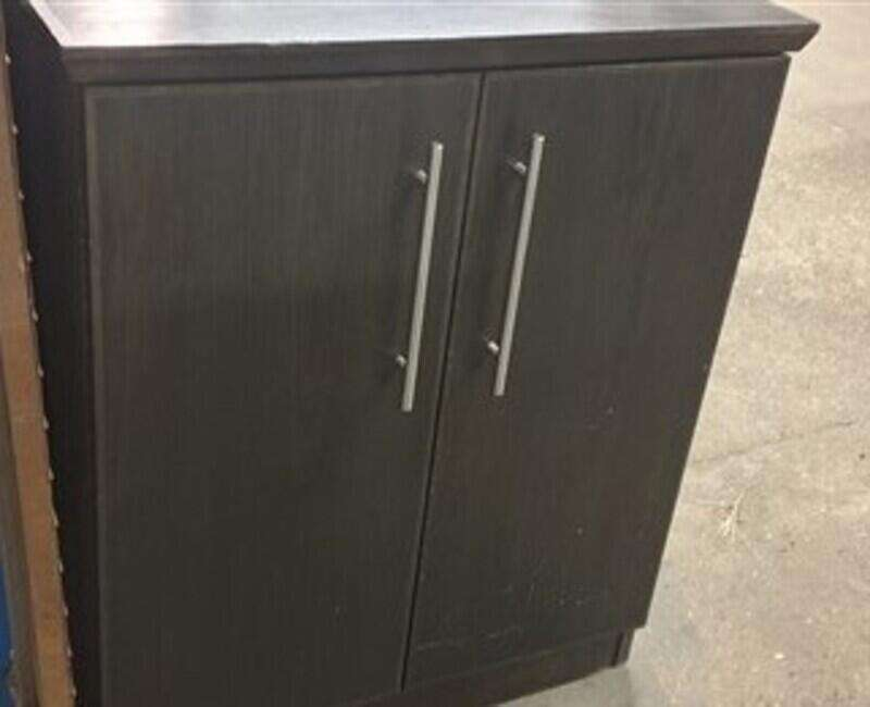 Black wooden cupboard