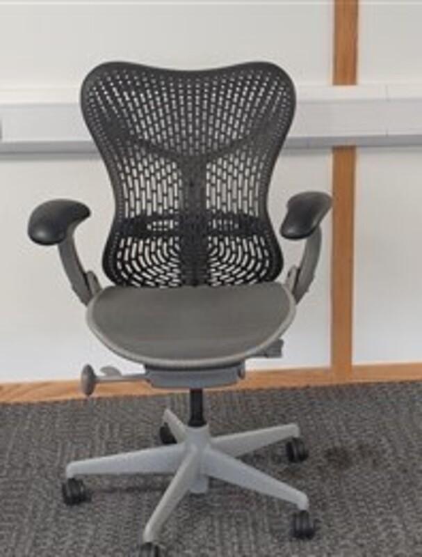 Herman Miller Mirra 1 graphite with grey mesh seat nbsplight grey trim