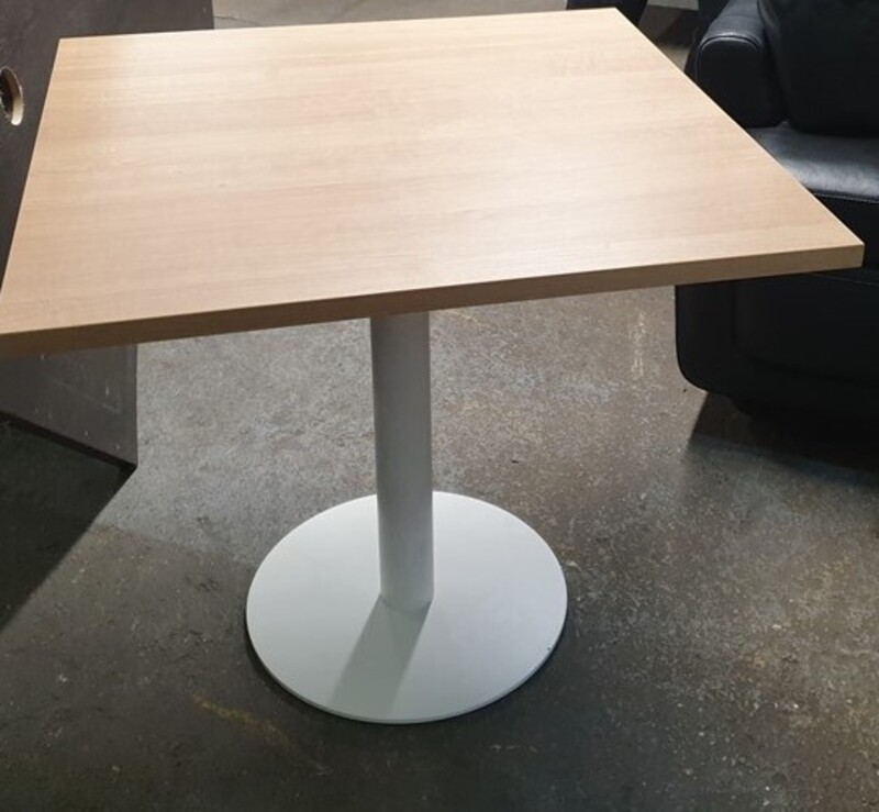 Oak top square table