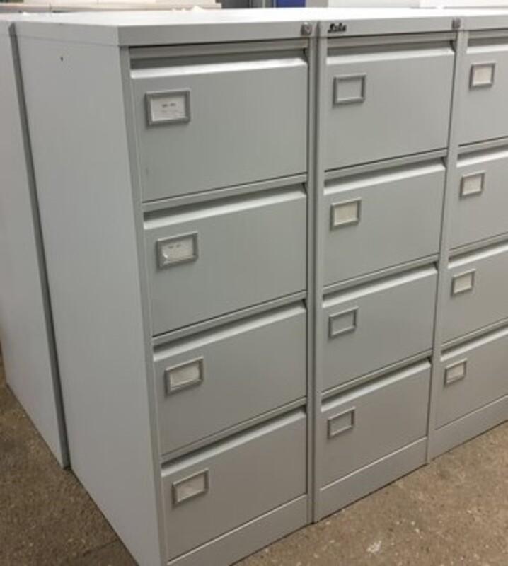 Metal 4 drawer filing cabinet
