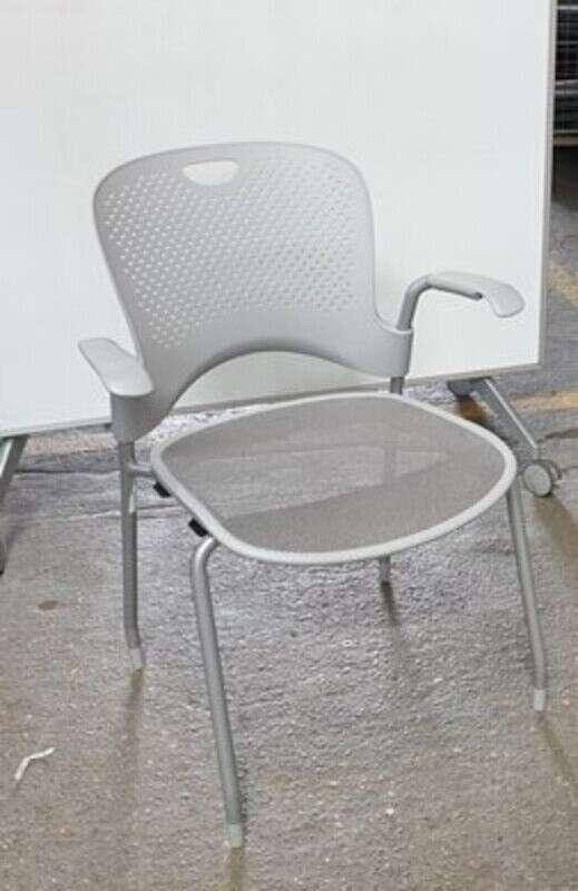 Herman Miller Caper light grey stacking chair