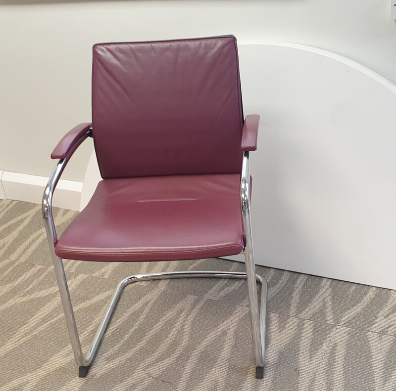 Sedus Open Up Leather Cantilever Chair