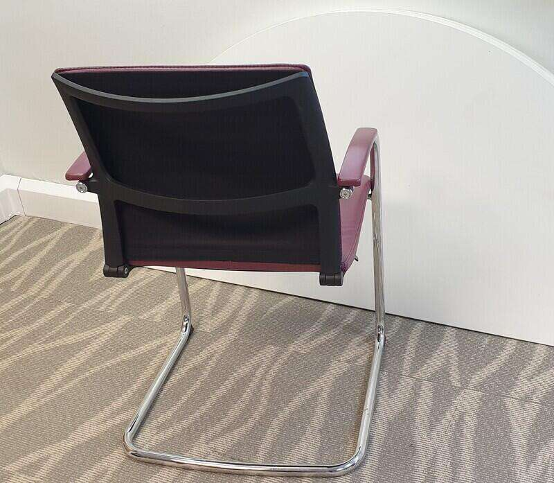 Sedus Open Up Leather Cantilever Chair