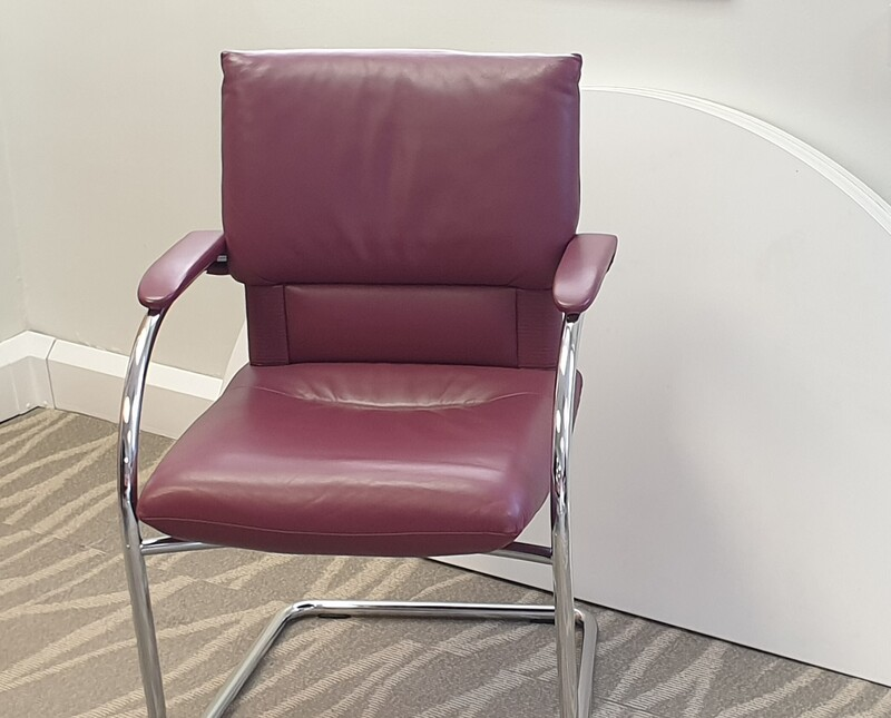Vitra Leather Mario Bellini Imago Cantilever Chair