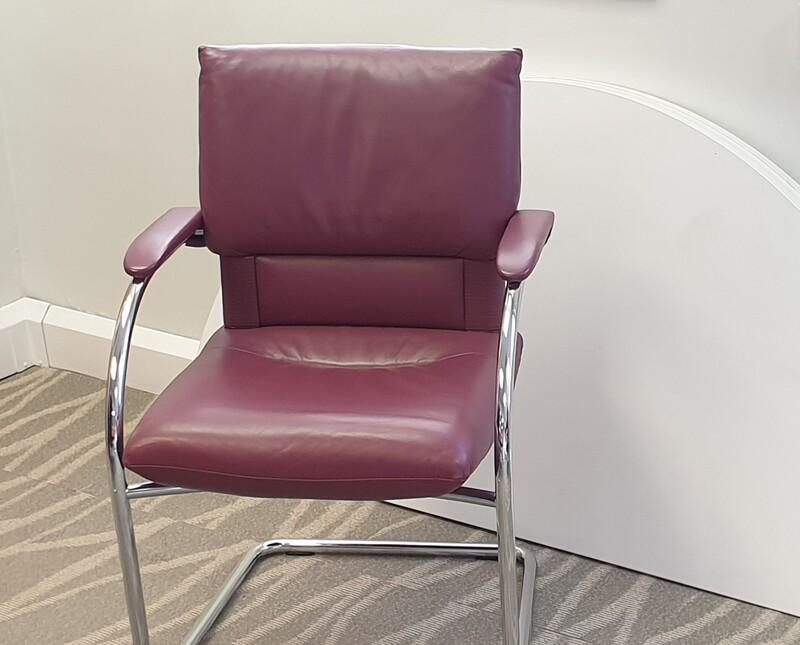 Vitra Leather Mario Bellini Imago Cantilever Chair