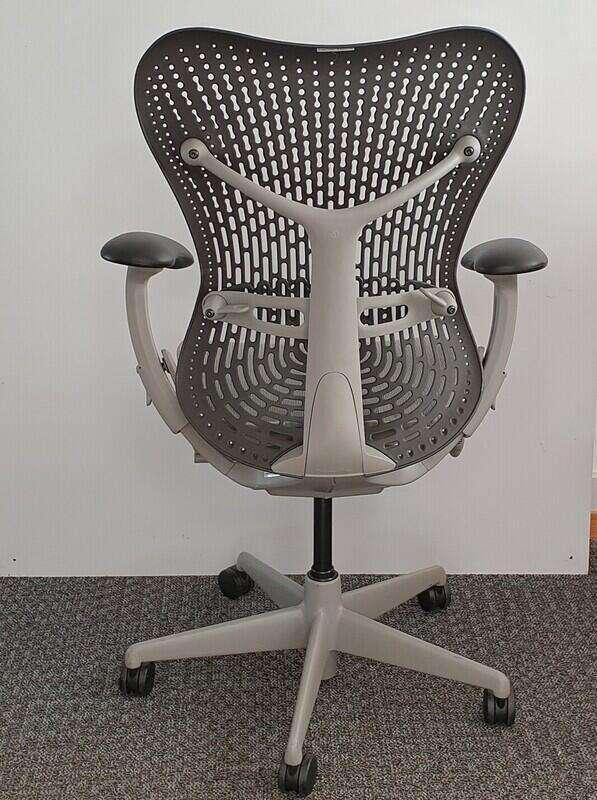 Herman Miller Mirra 1 graphite with grey mesh seat / light grey trim