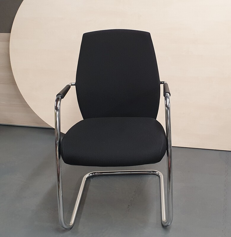 Black fabric meeting chair