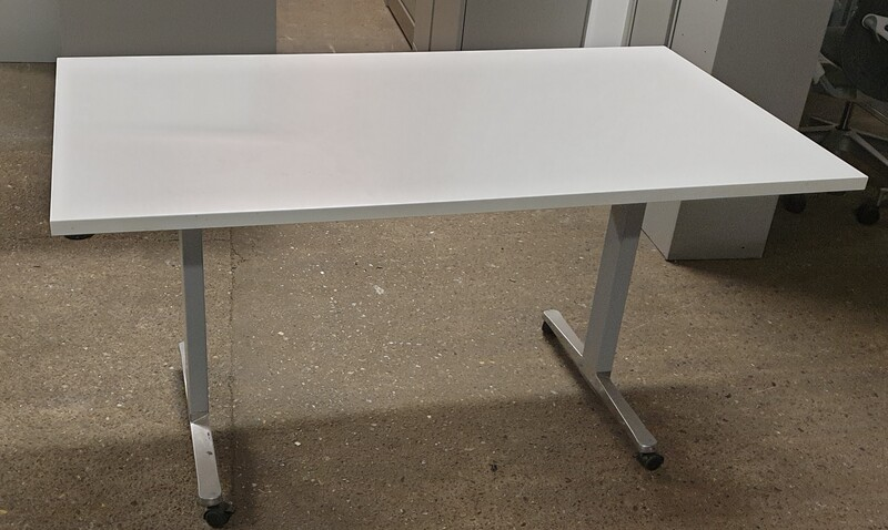 White flip top table