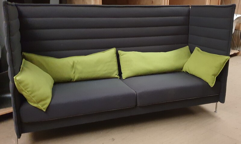Vitra Alcove acoustic graphite 3 seater sofa