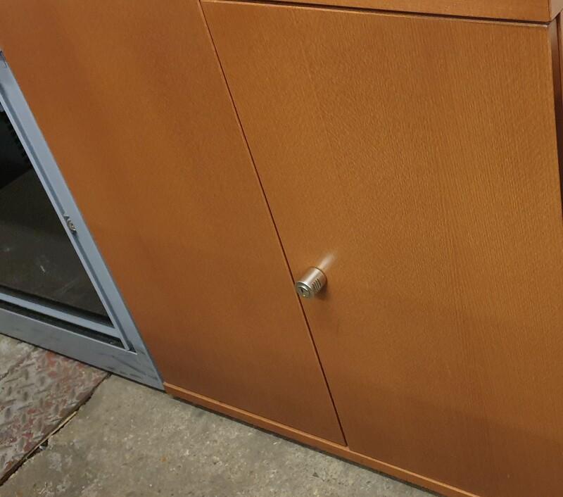 Oak wooden cupboard