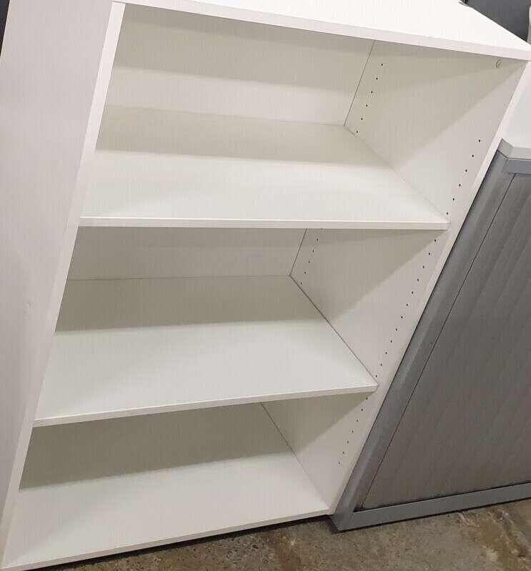 White shelving unit