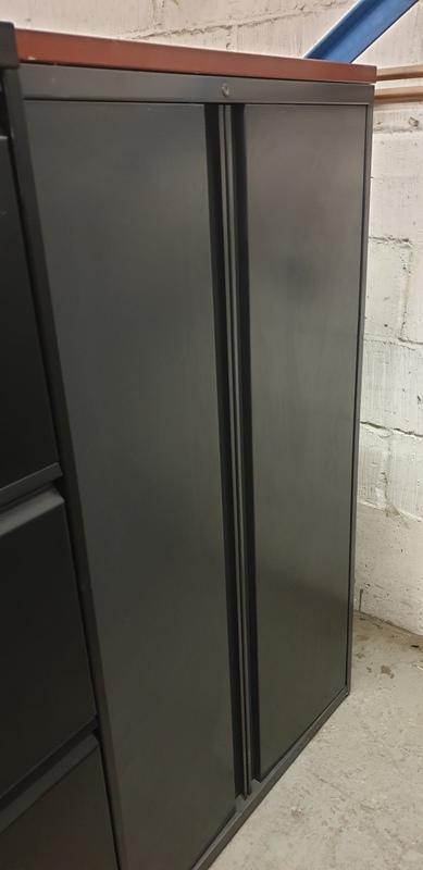 Graphite metal cupboard 1340h