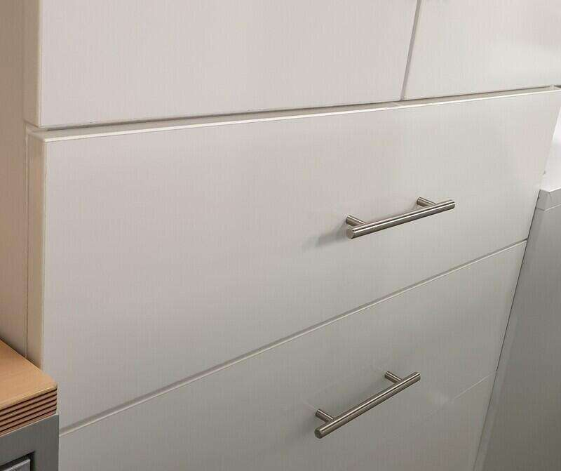 White double cupboard with drawers