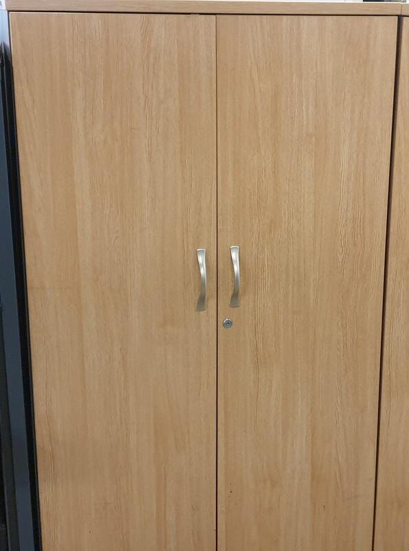 Oak top and doors cupboard