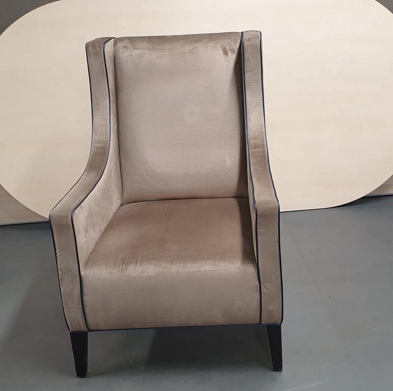Velour armchair