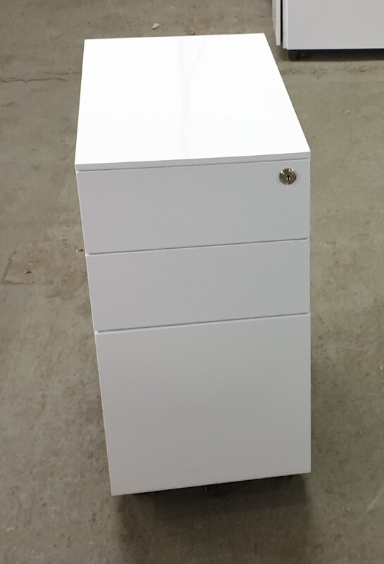 White metal slimline pedestal