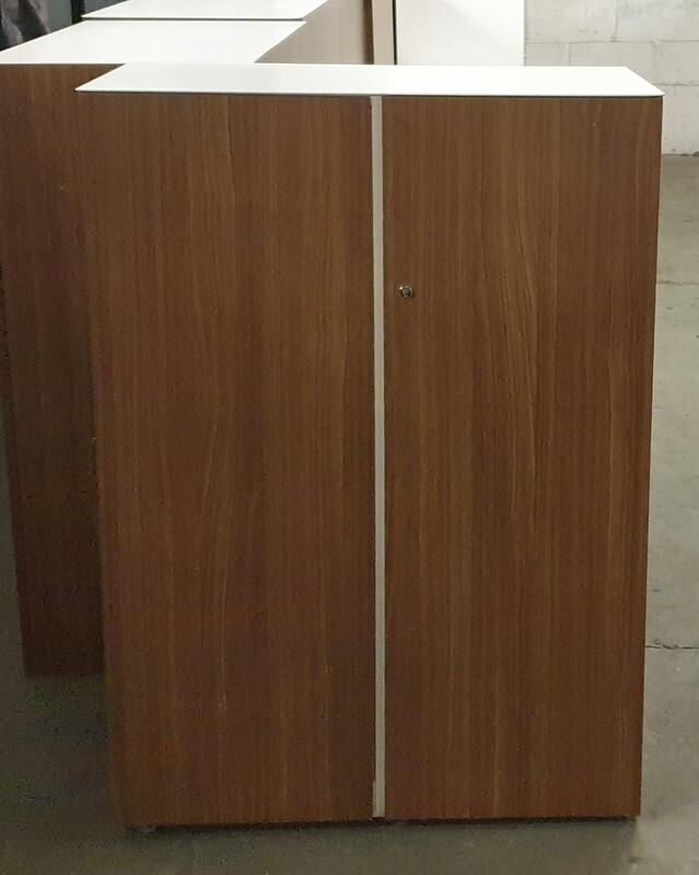 Walnut and white cupboard