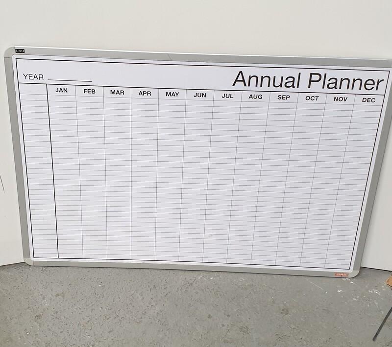 Annual planner whiteboard