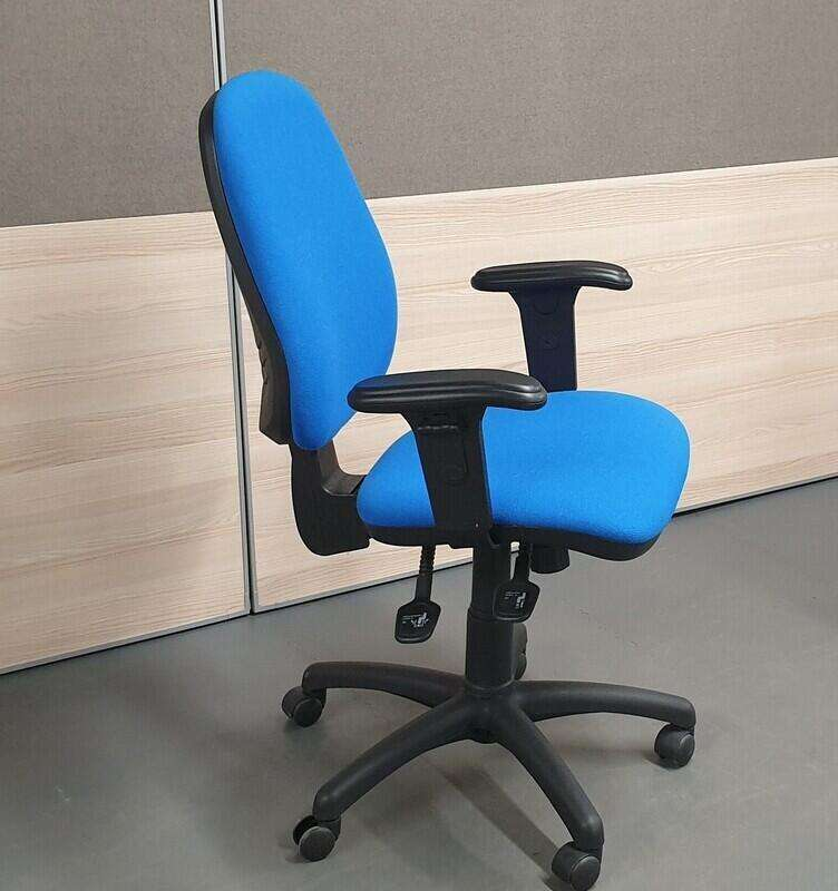 Royal blue operator chair