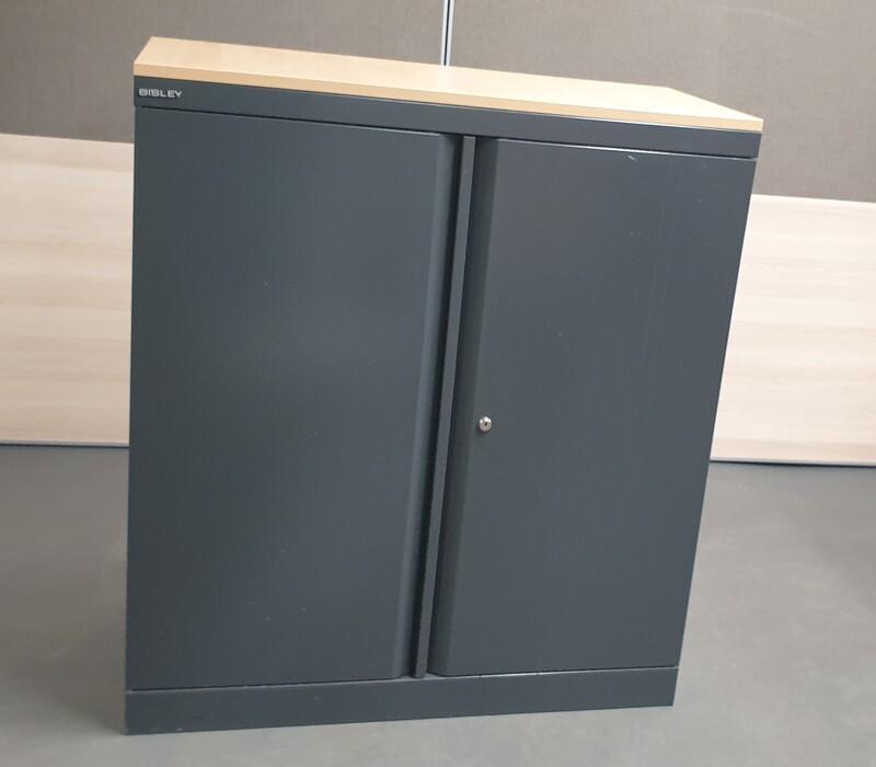 Bisley graphite metal cupboard
