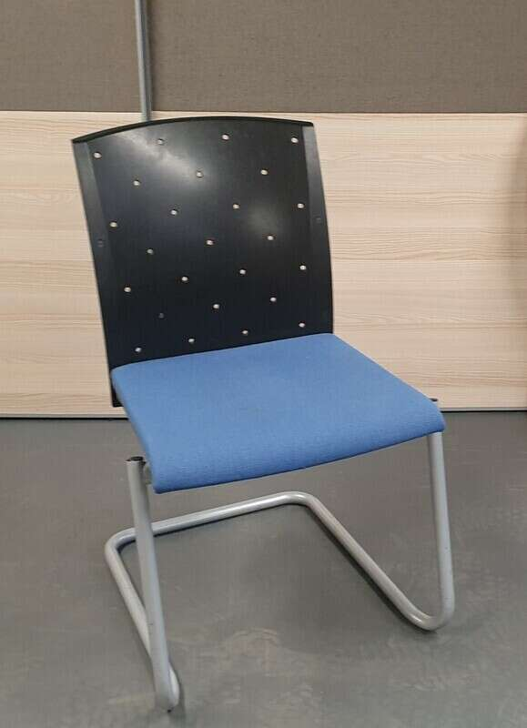 Blue and black meeting chair