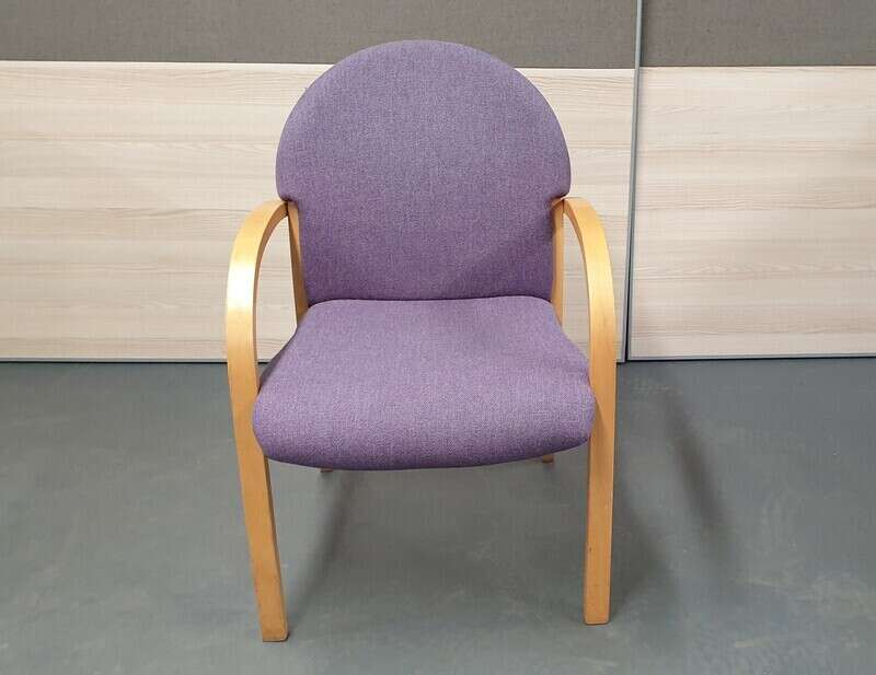Mauve and beech meeting chairs