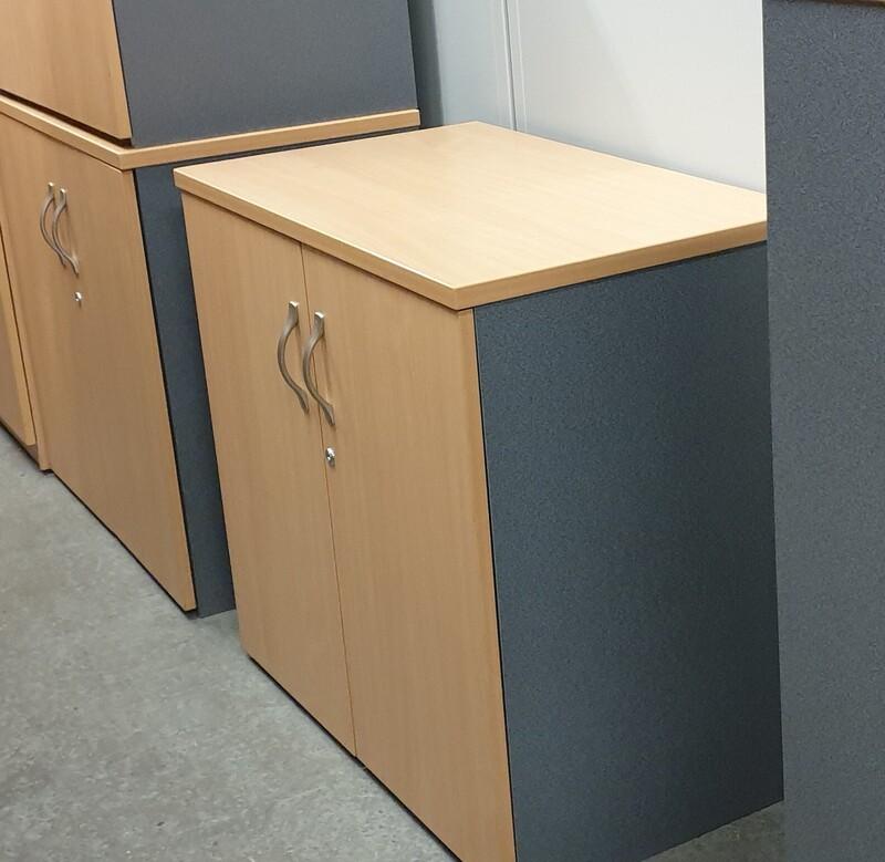 Beech and grey cupboard