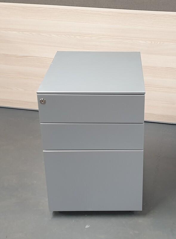 Light grey metal pedestal