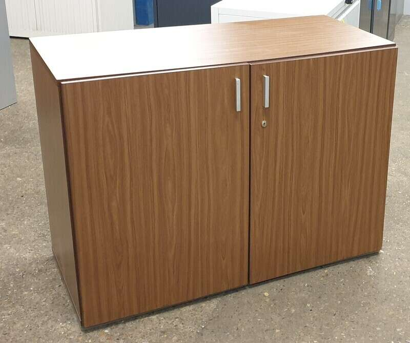 Walnut wooden server cabinet