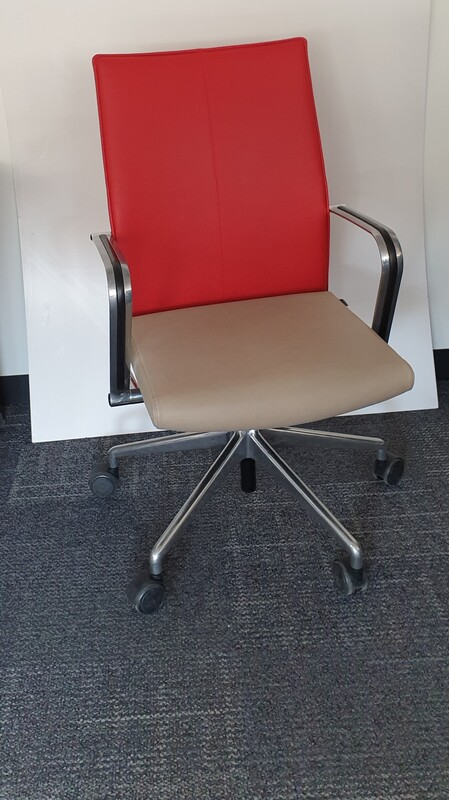 Leather Girsberger meeting chair